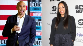Cory Booker and Rosario Dawson.