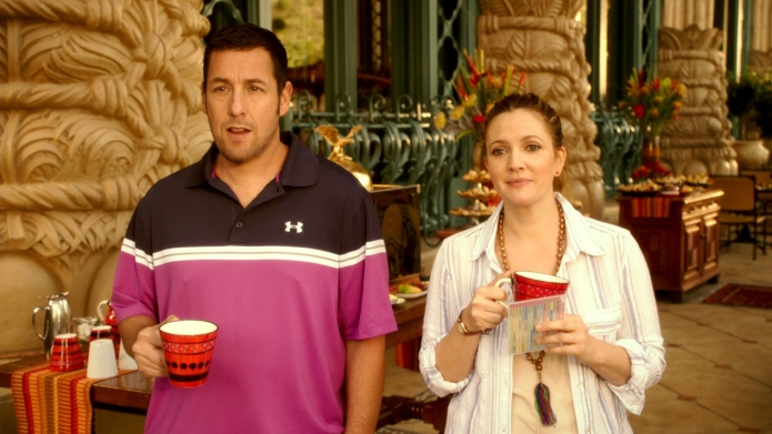 Adam Sandler and Drew Barrymore in