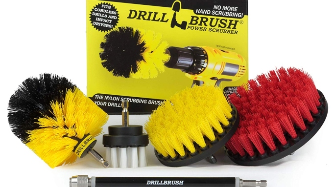 DrillBrush cleaning supply.