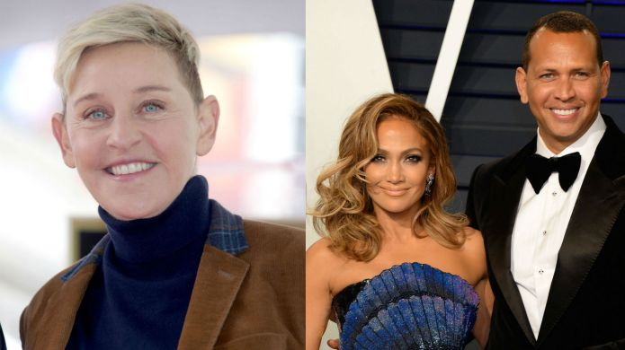 Photo of Ellen DeGeneres, Jennifer Lopez