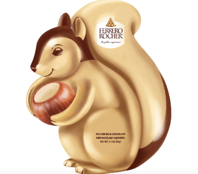 Ferrero Rocher hollow squirrel