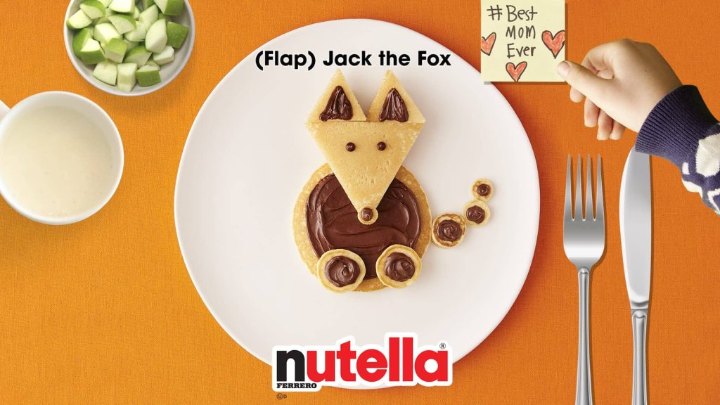 Flapjack the Fox Nutella Pancakes