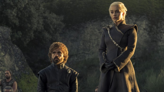 Peter Dinklage and Emilia Clarke in
