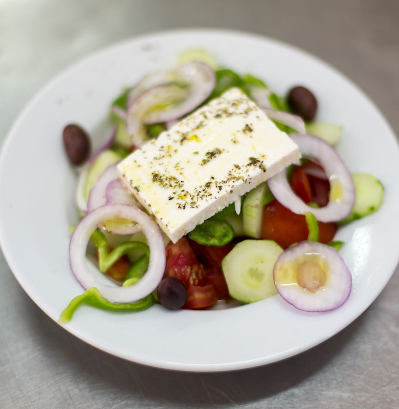 Greek Salad at Erato Restaurant in Athens.