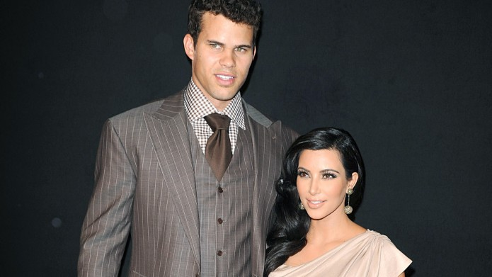 Kris Humphries and Kim Kardashian at