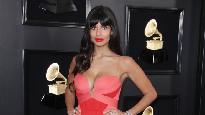 Jameela Jamil arrives at the 61st