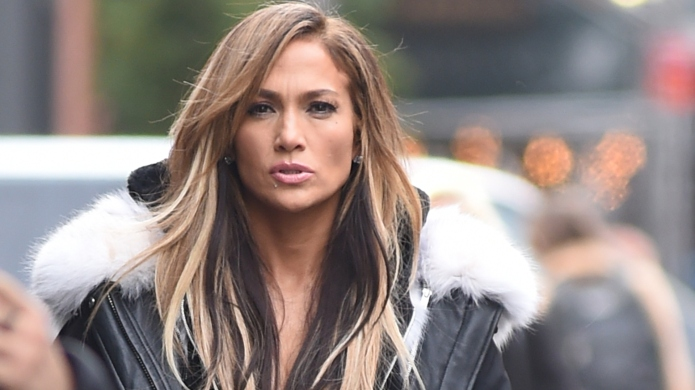 Jennifer Lopez on the 'Hustlers' Set.
