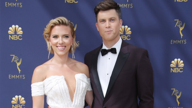 Johansson and Jost at 70th Primetime Emmy Awards in 2018