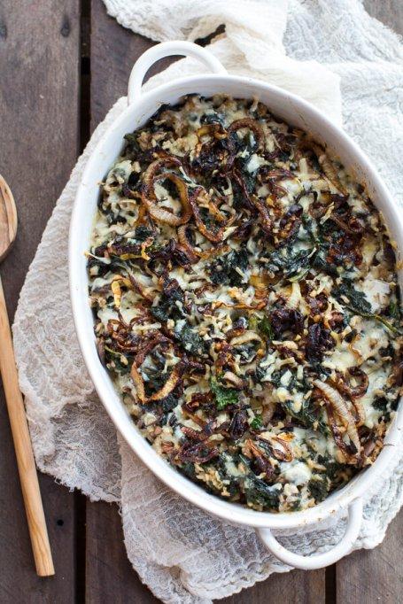 Kale & Wild Rice Casserole