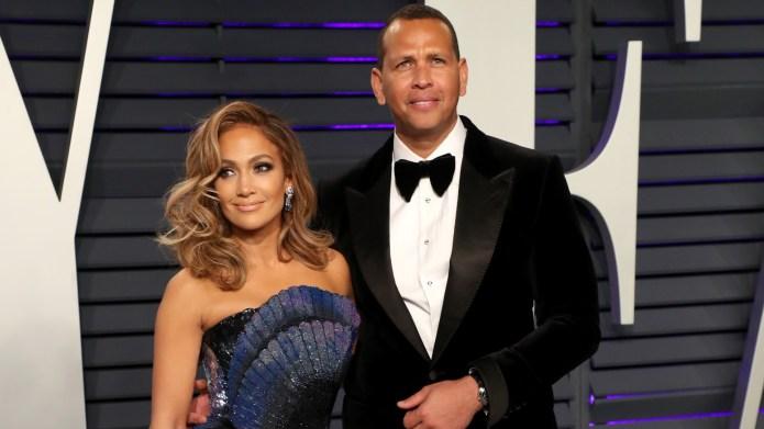Jennifer Lopez and Alex Rodriguez at
