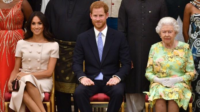 Meghan Markle, Prince Harry, Queen Elizabeth