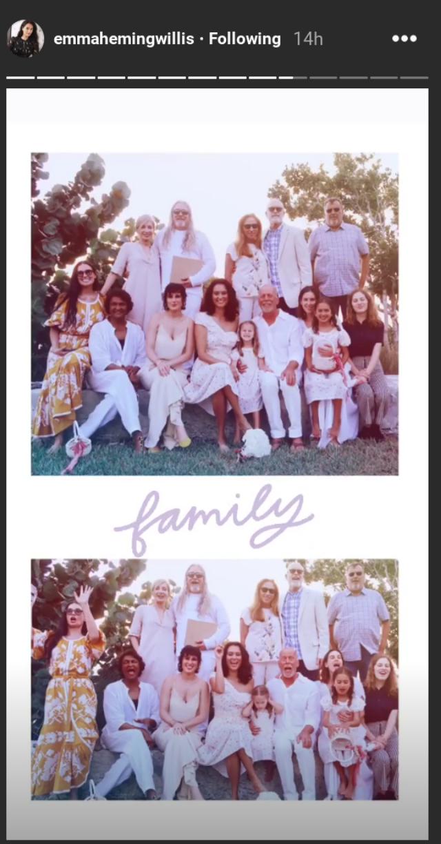 Demi Moore at Bruce Willis & Emma Heming's 10 yr anniversary ceremony on Instagram