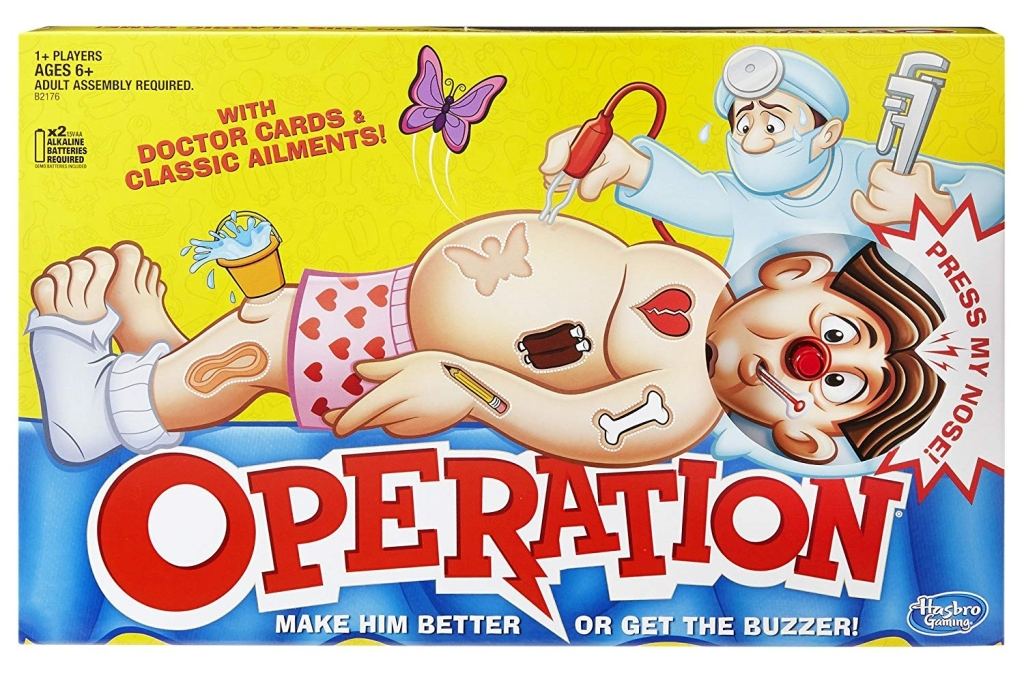 Operation board game.