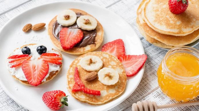 Pancake food art for kids. Funny