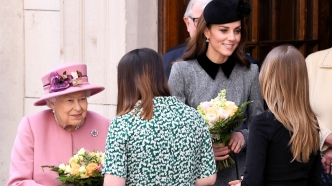 Queen Elizabeth and Kate Middleton.