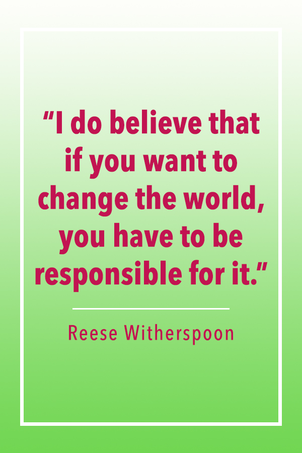 Reese Witherspoon change world quote card
