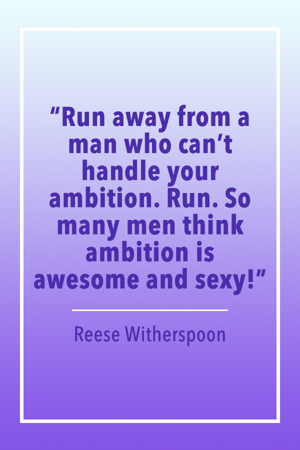 Reese Witherspoon man ambition quote card