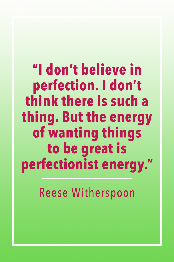 Reese Witherspoon perfectionist energy quote card