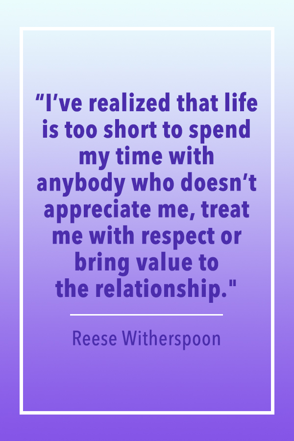 Reese Witherspoon value relationship quote card