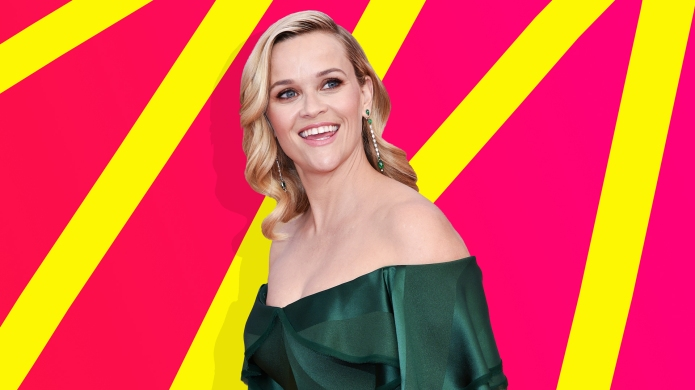 Special collage of Reese Witherspoon pink