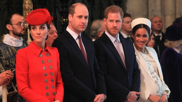Royal family at commonwealth day services