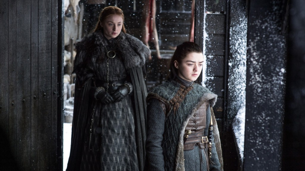 Sophie Turner and Sansa and Maisie