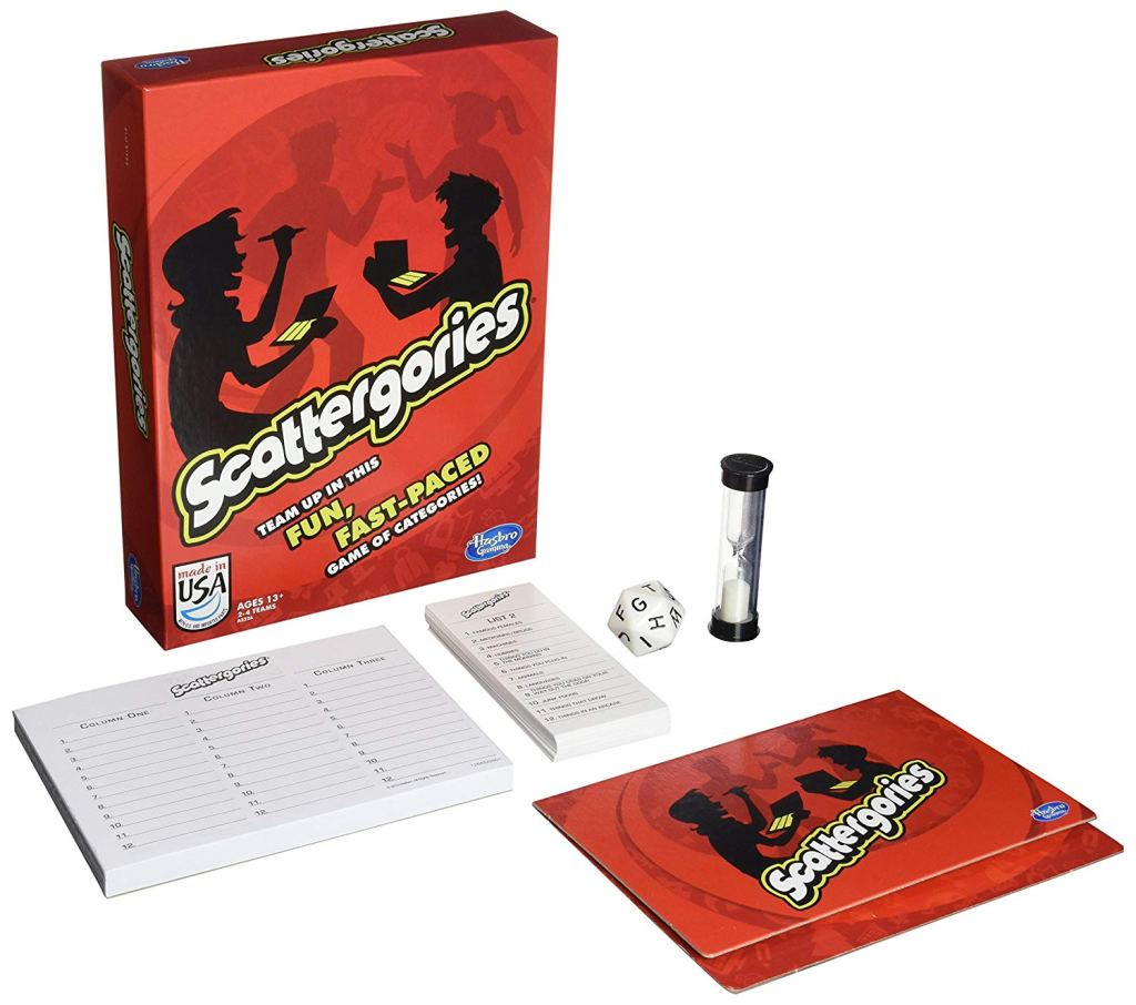 Scattergories board game.