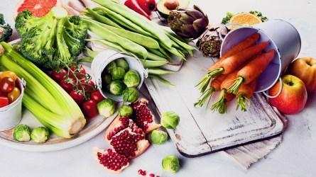 Organic food background. Healthy cooking ingredients