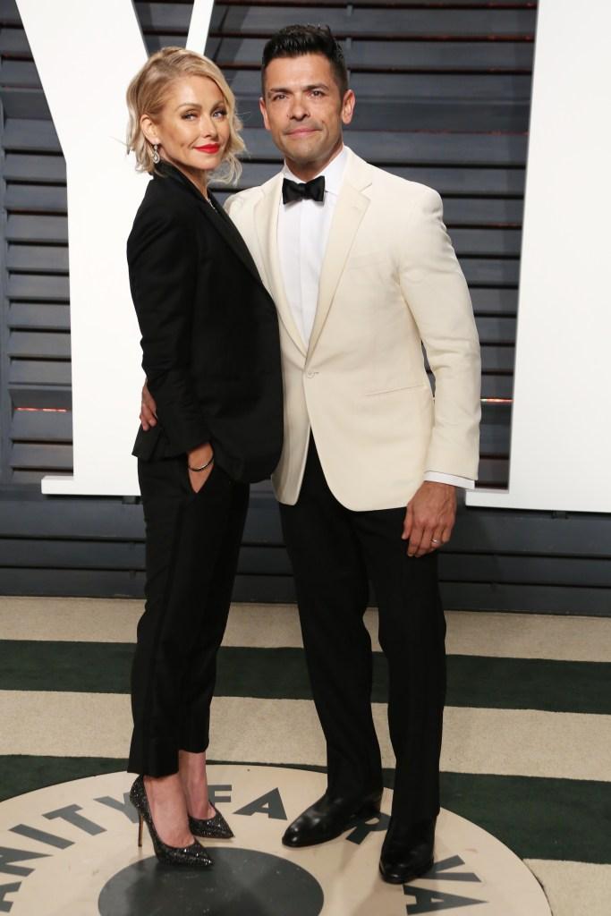 Kelly Ripa and Mark Consuelos Vanity Fair Oscar Party, Los Angeles, USA - 26 Feb 2017