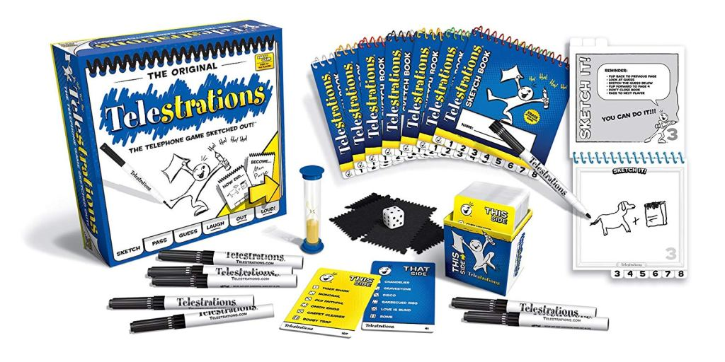 Telestrations game.