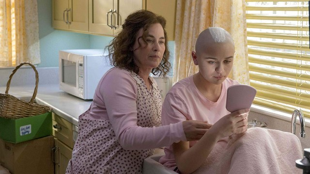 Production still from 'The Act' on Hulu