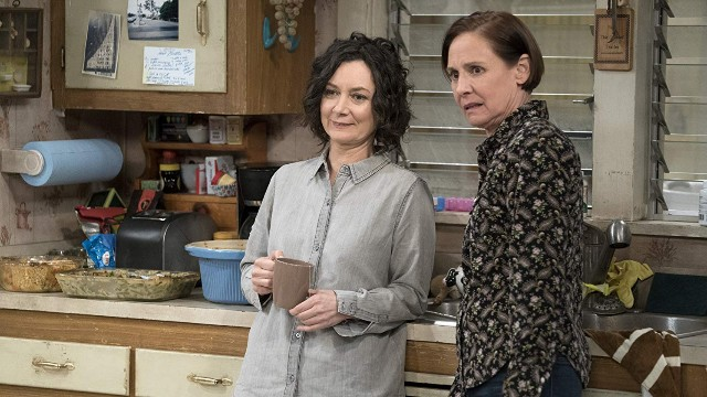 Still of Laurie Metcalfe and Sara Gilbert in 'The Conners'