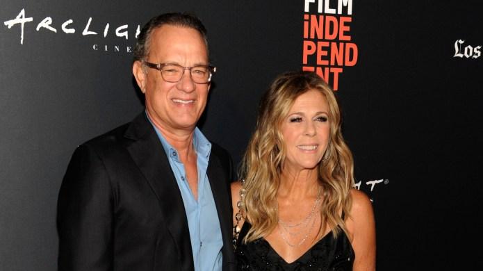 Rita Wilson and Tom Hanks attend