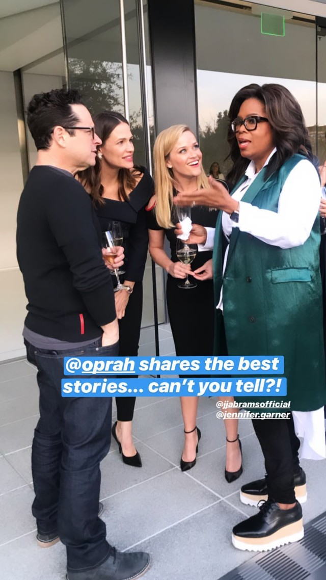Witherspoon, JJ Abrams, Jennifer Garner and Oprah at Apple Event March 25, 2019