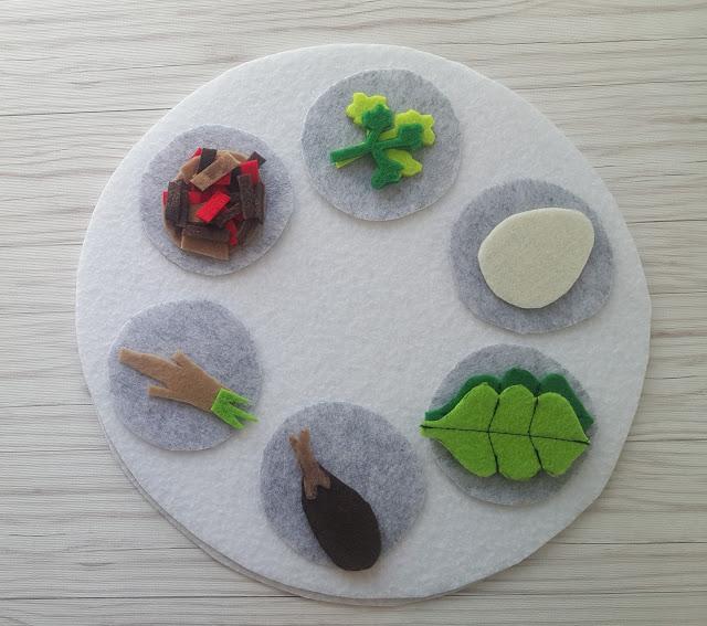 Felt Seder Plate Kid DIY