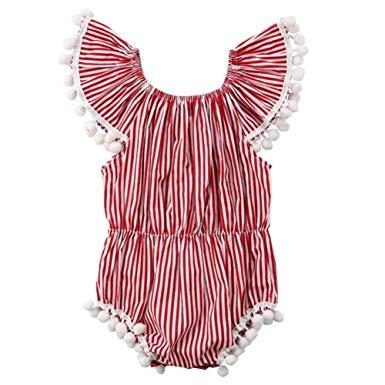Red Striped Onesie
