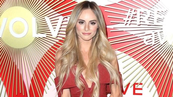 Amanda Stanton In Red Dress