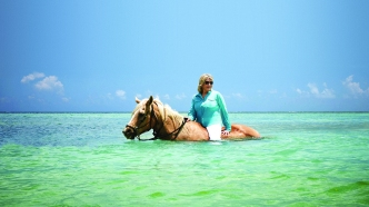 Martha Stewart Ocean Horseback Riding