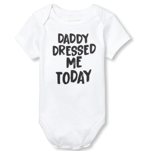 """Daddy Dressed Me Today"" Onesie: What Your Kids' Clothes Say About You"