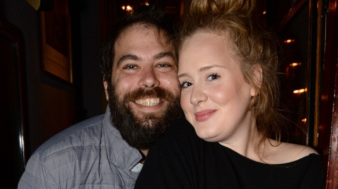 Simon Konecki and Adele.