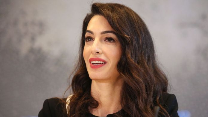 Amal Clooney speaks at the G7