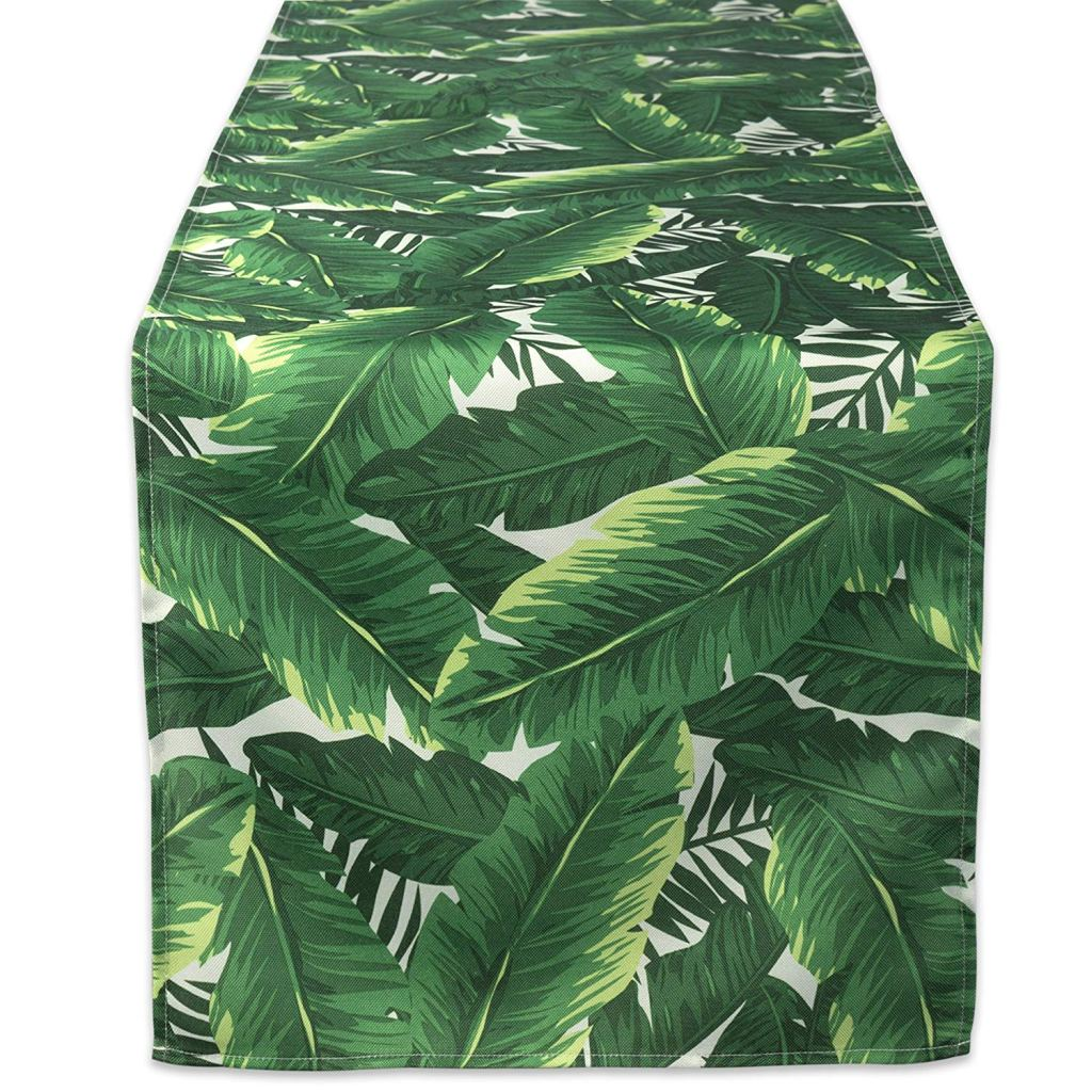 Amazon Summer Party Decor: Banana Leaf Table Runner