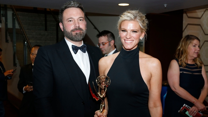 Ben Affleck and Lindsay Shookus at the Emmys