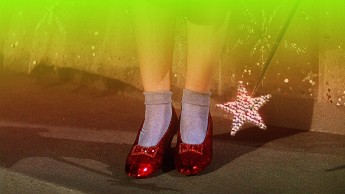 Wizard of oz Dorothy red shoes