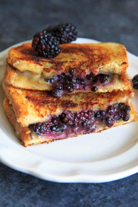 Blackberry Brie Grilled Cheese.