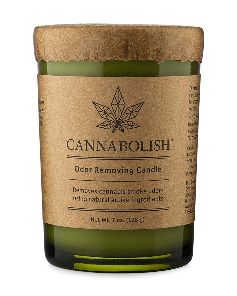 Gifts for Pot-Smoking Moms: Cannabolish Cannabis Odor-Removing Candle