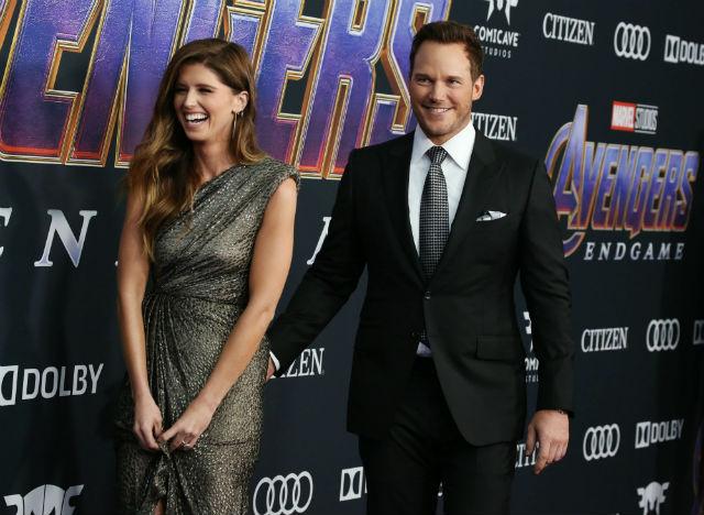 Photo of Katherine Schwarzenegger and Chris Pratt at Avengers: Endgame premiere