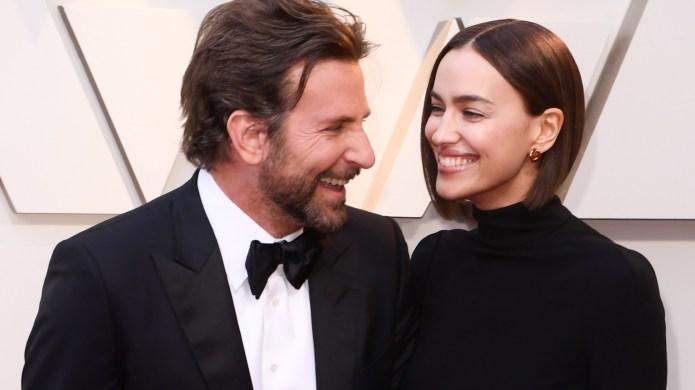 Bradley Cooper and Irina Shayk arrive
