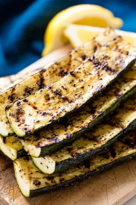 Easy Grilled Zucchini.
