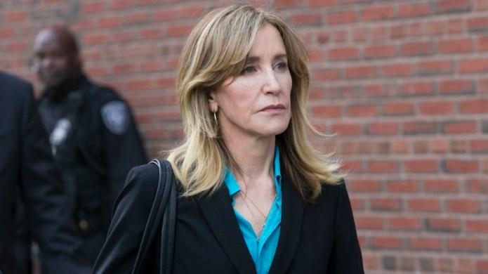 Felicity Huffman leaves the John J